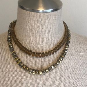 Vintage Glass mirrored Beaded necklace